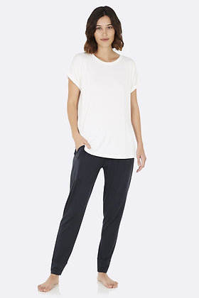 Boody Downtime Lounge Top Natural White