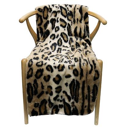 Throw Leopard Faux Fur