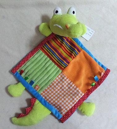Baby Bow Cuddly Crocodile 22cm