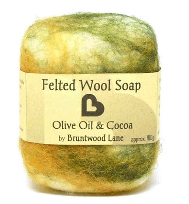 Bruntwood Lane  Olive Oil & Cocoa Felted Soap