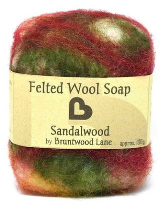 Bruntwood Lane  Pomegrante Felted Soap