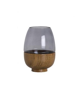 Grey Smokey Vase
