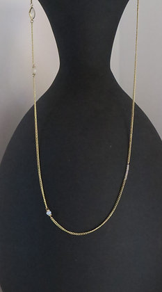 Gold Crystal Bead Necklace