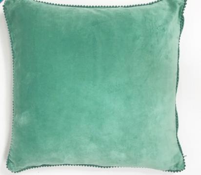 Aqua Velvet Cushion