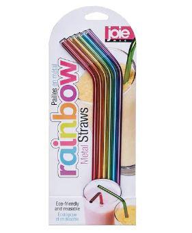 Joie 6pc Rainbow Metal Straws