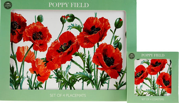 The Leonardo Collection Poppy Field Placemats