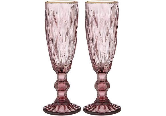 Tempa 2pk Champagne Glass - pink