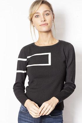 Sabena - Rectangle Print Jumper - Black