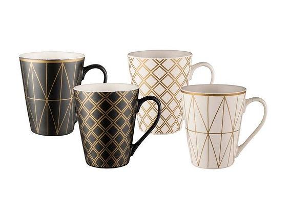 Bundanoon  Geotalic Mugs Set 4