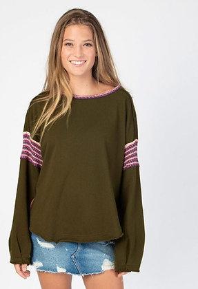 Trim Sweatshirt Olive