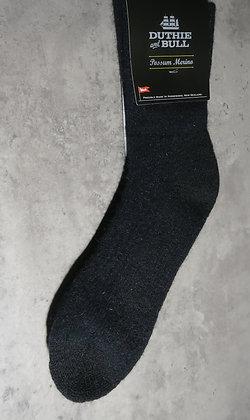 Duthie and Bull - Possum Merino Socks - Black