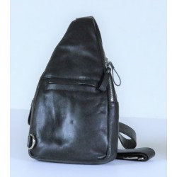 Baron - Leather BackBag - Black