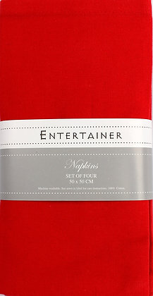 Entertainer - Napkins - Red