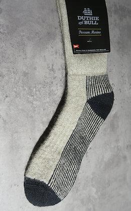 Duthie and Bull Possum-Merino Sock - Wheat