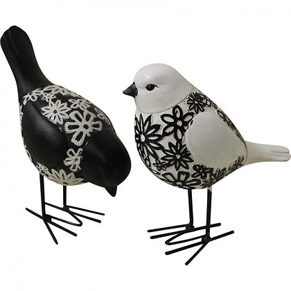 Birds Black/White Set of 2