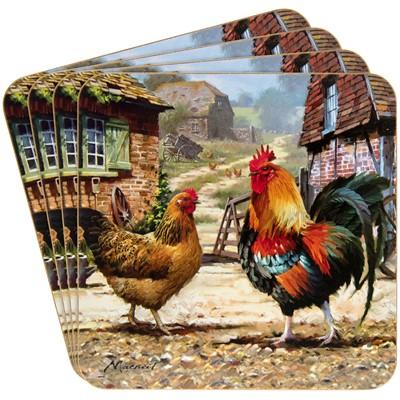 The Leonardo Collection Coasters Cockerel & Hen