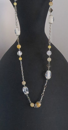 Silver Earth Beading Necklace