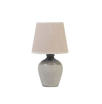 Speckled Lamp With Ivory Shade