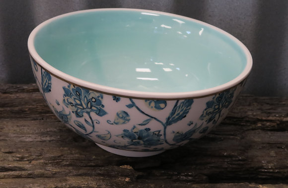 La Vida - Bowl - Teal Pattern