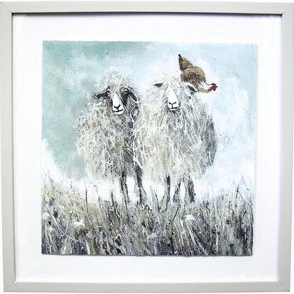 Framed Print Sheep/Chicken