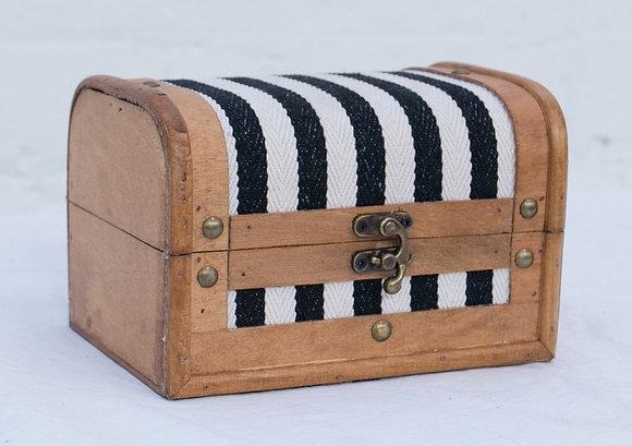 Small Black/White Striped Case