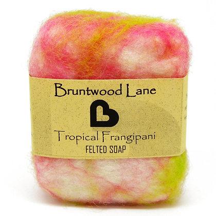 Bruntwood Lane  Frangipani Felted Wool Soap