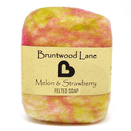 Bruntwood Lane  Melon Strawberry Felted Soap