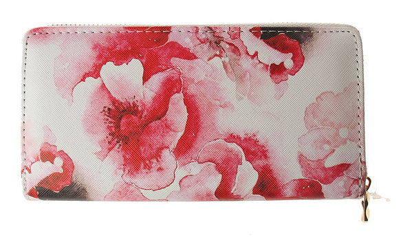 Amberlene - Wallet - Red flower print