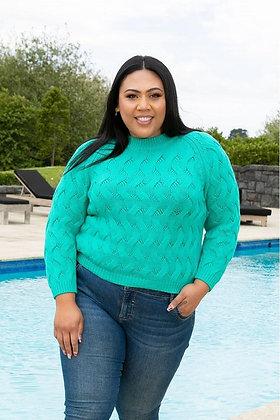 Stella Royal Chunky Knit Cardigan Teal