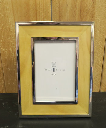 Maytime - Silver and Wood Photo Frame