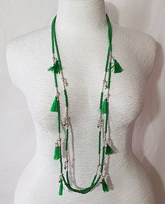 Im Gorgeous - Emerald Silver Necklace