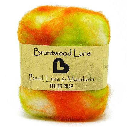 Bruntwood  Lane Basil, Lime & Mandarin Felted Soap