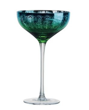 Artland Peacock Champagne Glass Set of 2