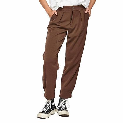 Ketz-ke Tuck Leg Pant Chocolate
