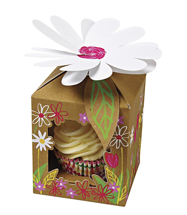 Meri Meri Cupcake Box LIttle Garden Small 4pk