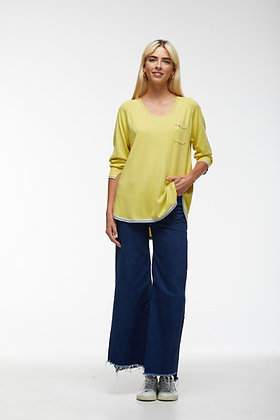 Zacket  Plover Embroidered Pullover Canary