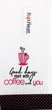 "Hot House - Novelty ""Good Days"" Tea Towel"