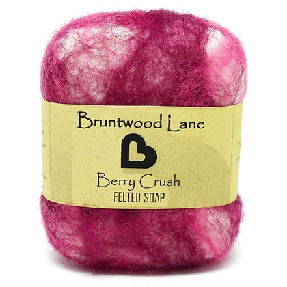 Bruntwood Lane  Berry Crush Felted Wool Soap