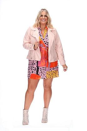 Stella Royal Cameron Biker Jacket Pink