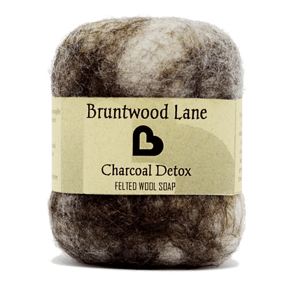 Bruntwood  Lane  Charcoal Detox Felted Soap