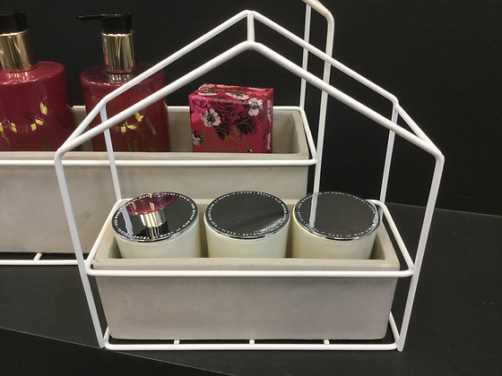 Concrete Pot with Wire House - small