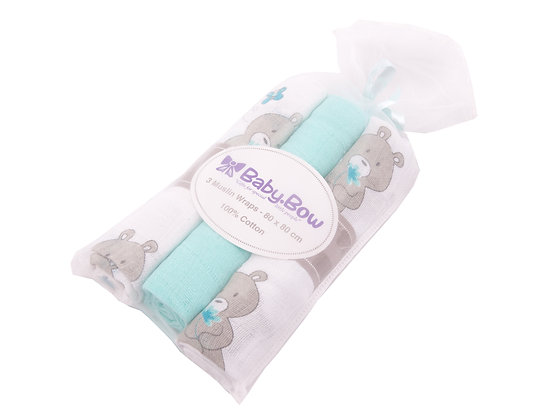 Muslin Wraps Set of 3