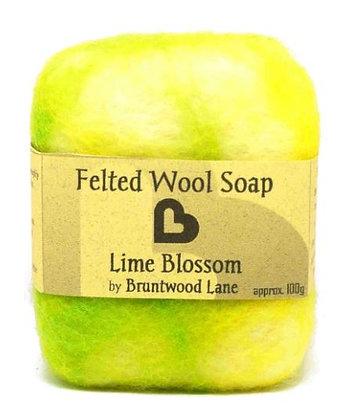 Bruntwood Lane Lime Blossom Felted Soap