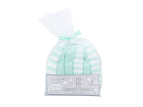 12 Pack Facecloths Supersoft