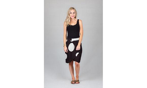 White Chalk Georgie Skirt Black/White Spot