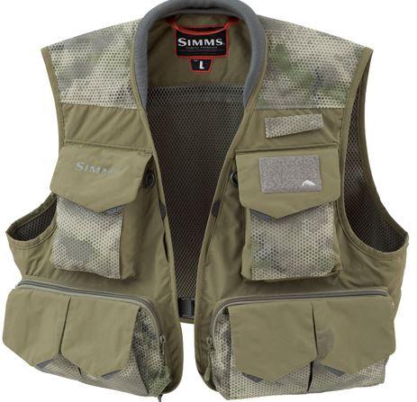 Simms Freestone Vest Hex Camo Loden
