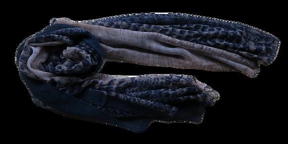 Im Gorgeous - Blue Patterned Scarf - Mediumweight