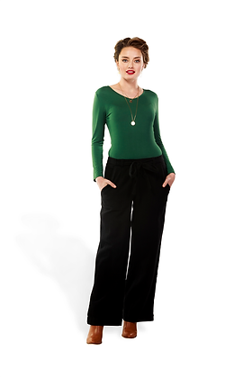 Kaja - Michelle Long Sleeve Top - Moss Green