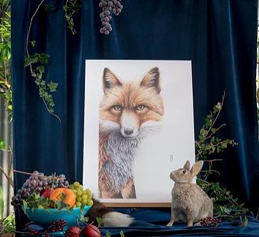 Wild Honey Art Print Grace The Fox A3