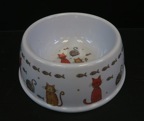 Leonardo - Faithful Friends Cat Bowl